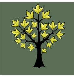 spring trees with green leaves vector image vector image