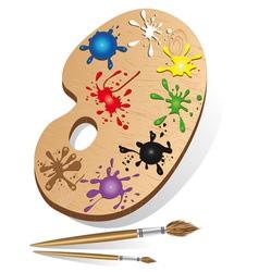 art palette icon vector image