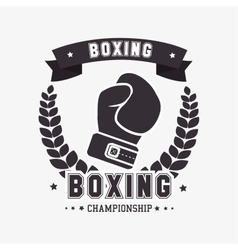 Boxing gloves punch isolated vector