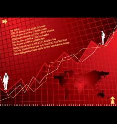 financial background vector image vector image
