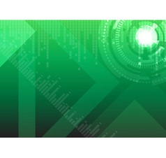 Hi tech green background vector image vector image