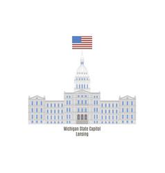 Michigan state capitol vector