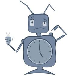 Robot Clock vector image