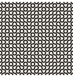 Seamless Black and White Rounded Line vector image vector image