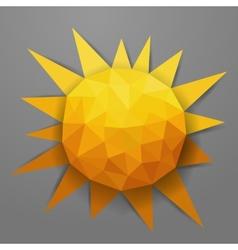 Abstract triangle summer sun vector