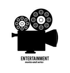 entertainments icons design vector image vector image