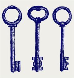 Keys sketch vector image