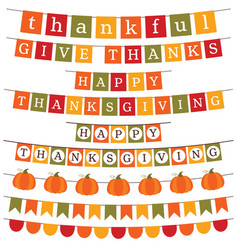 thanksgiving and fall banner decoration vector image