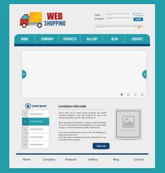 website design template design vector image