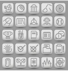 25 school and college buttons with icons vector image