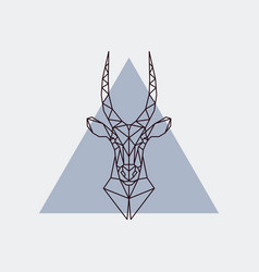 antelope head in polygonal style vector image vector image