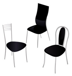 black chairs vector image