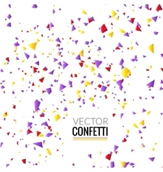 Colorful Confetti on White background Christmas vector image vector image