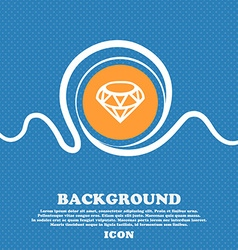 Diamond icon sign blue and white abstract vector