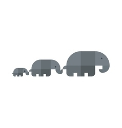Family of elephants kept each other in flat vector image vector image