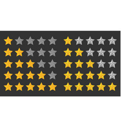 Five stars rating 5 star set vector