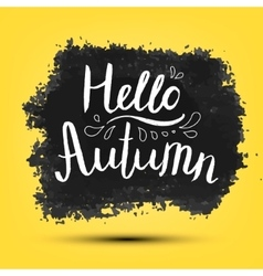 Hello Autumn poster card banner vector image vector image