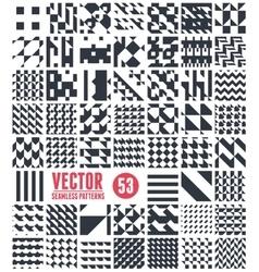 Patterns set vector image