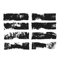 Abstract black smears of paint isolated on white vector
