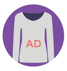 Ad shirt vector