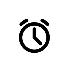 alarm clock line web or mobile interface vector image