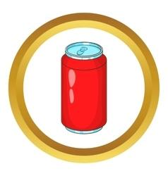 Aluminum beverage bank icon vector image