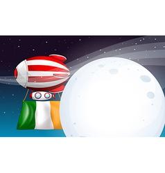 An air balloon with the flag of Ireland vector