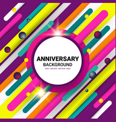 Anniversary color template vector