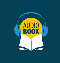 audiobook logo template vector image