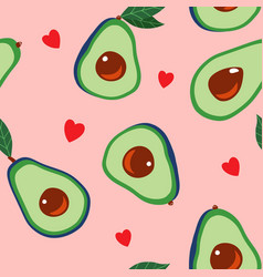 avocado and hearts vector image