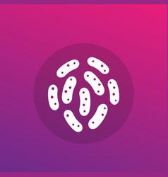 Bacteria microbes icon vector
