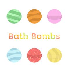 bath bomb cartoon set nature organic soap vector image