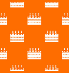 Beer wooden box pattern seamless vector
