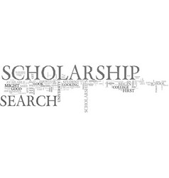 Benefits of scholarship search text word cloud vector
