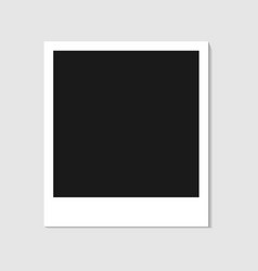 blank photo polaroid frame isolated on white backg vector image