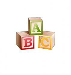 Blocks letters vector