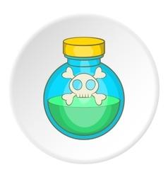 Bottle of poison icon cartoon style vector