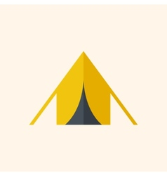 Camping Travel Flat Icon vector