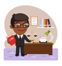 cartoon judge with law vector image