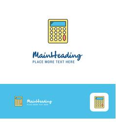 creative calculator logo design flat color logo vector image