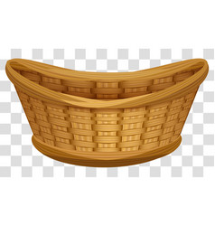 empty wicker basket for flowers large birds nest vector image