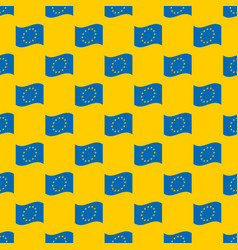 European union flag seamless pattern vector