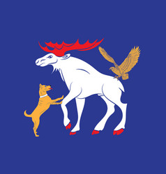 Flag jamtland is a historical province in the vector