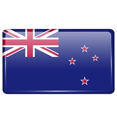 Flags New Zeland in the form of a magnet on vector
