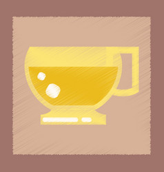 Flat shading style icon cup coffee flavor vector