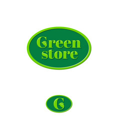 green store logo grocery store emblem vector image