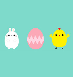 happy easter bunny head face painting egg vector image