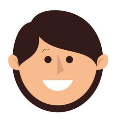 happy little boy character vector image