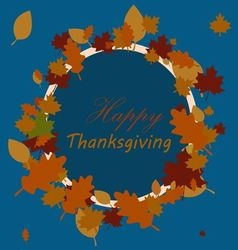 Happy Thanksgiving sticker vector