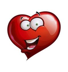Heart Faces Happy Emoticons Hello vector image